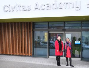 Cllr Sarah Hacker [Battle] & Karen Rowland [Abbey] visit The Civitas